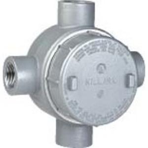 "Hubbell-Killark GEJXT-5 Conduit Outlet Box, Type GEJXT, (4) 1-1/2"" Hubs, Aluminum"