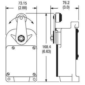 Allen-Bradley 801-ASC25X Limit Switch, Roller Lever, Snap Action, Spring Return, Type 3