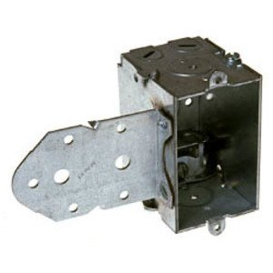 "Hubbell-Raco 522 Switch Box, Steel, 2 1/2"" Deep, 1/2"" KOs, LB Bracket"
