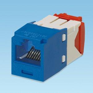 Panduit CJ5E88TGBU Snap-In Connector, Cat 5e+, Mini-Com, TX5e, UTP, Blue