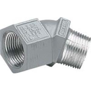 """Hubbell-Killark MF-45-1 Elbow, 45°, 1/2"""", Aluminum"""