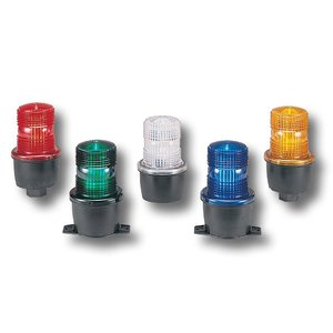 Federal Signal LP3S-120R Strobe, Type: Low Profile, Surface Mount, 120VAC, 0.10A, Lens: Red