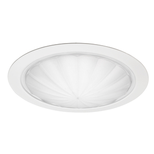 "Juno Lighting 9900-WH Drop Opal Trim, Fluted, 6"", White"