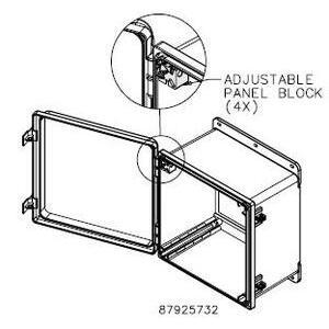 Hoffman APNLBLK Adjustable Panel Block Kit, Use With PolyPro Internal Rail System