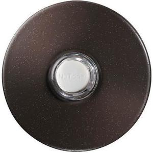 "Nutone PB41LBR Pushbutton, Illuminated, 24VAC/DC, Diameter: 2-1/2"", Bronze"