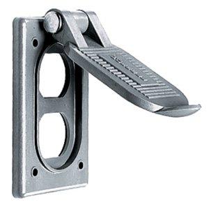 Hubbell-Kellems HBL5221 Weatherproof Flip Cover, 1-Gang, Type: Duplex, Vertical