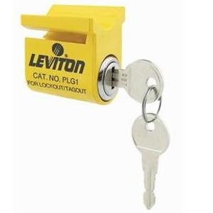 Leviton PLG1 Lockout/Tagout for Pin & Sleeve, IP67 - Yellow.