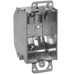 "Hubbell-Raco 471 Switch Box, Gangable, 2-1/4"" Deep, NM Clamps, Ears"
