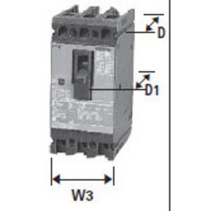 Siemens HED43B020 Breaker, Molded Case, 20A, 3P, 480VAC, Type HED, 42 kAIC