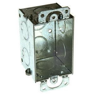 "Hubbell-Raco 420 Switch Box, Gangable, 2"" Deep, Conduit Knockouts, Ears"