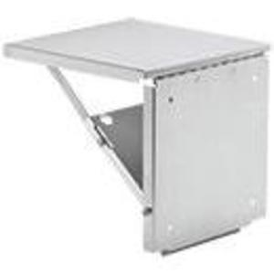 "Hoffman ACSHELF1818SS Folding Shelf, 18"" x 18"", Load Rating 150 Pounds, Stainless Steel"