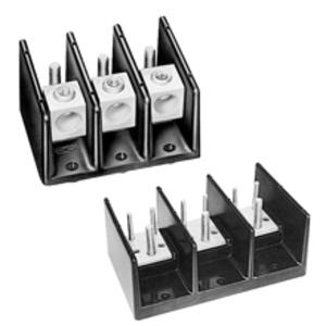 """Eaton/Bussmann Series 16591-3 Stud-Stud Block, 3-Pole, Line:3/8""""x1-7/16"""" Stud, Load 1/2""""x1"""" Stud"""