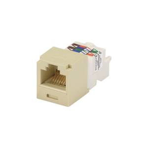 Panduit CJ688TPEI Snap In Connector, Mini-Com, TX6 PLUS UTP, Cat 6, Ivory