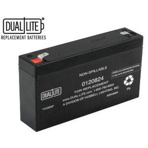 Hubbell-Dual-Lite 0120824 SLA Battery, 6VDC, 7-7.2 Ah