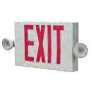 All-Pro Lighting APCH7R Combo Exit Sign/Emergency Light, LED, 2-Head, Red Letters