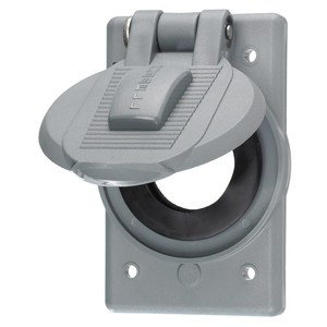 Hubbell-Wiring Kellems HBL7423WO Weatherproof Cover For FS/FD Boxes, Vertical Mount, Single Receptacle