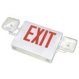 Mule SQRXU Emergency Combo Exit/Light, LED, White, Red Letters