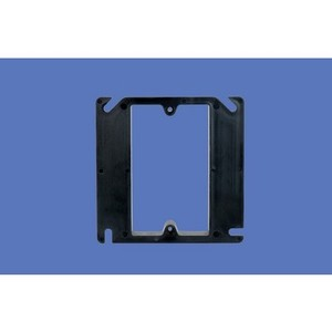 "Allied Moulded PJ-4S1 4"" Square Box Device Ring, 1-Gang, 1/2"" Raised, Non-Metallic"