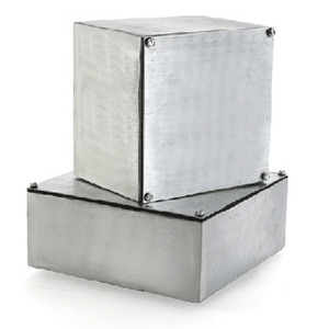 "E-Box 884SG Enclosure, NEMA 3/12, Screw Cover, Gasketed, 8 x 8 x 4"", Steel/Gray"