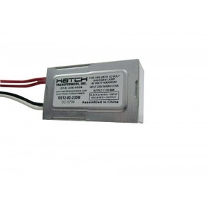 Hatch RS12-80 Transformer, Electronic, 80 Watt, 120VAC, 11.5VAC, Side Lead