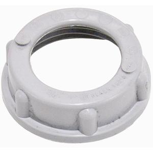 "Appleton BBU-50 Conduit Bushing, Threaded, Insulating, 1/2"", Thermoplastic"