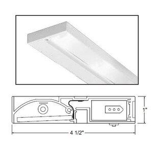 """Juno Lighting ULH322-BL Undercabinet Fixture, 22"""", 3-Lamp, Pro-Series Halogen, Black"""