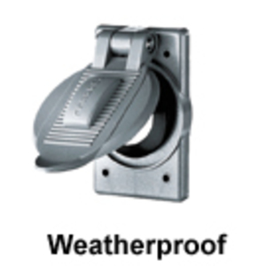 Hubbell-Wiring Kellems HBL74CM25WOA Weatherproof Cover, 1-Gang, Vertical, Single Receptacle, Aluminum
