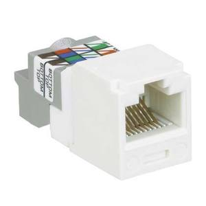 Panduit CJ688TPWH Mini-Com Module, Cat 6, UTP, 8 pos 8 wir