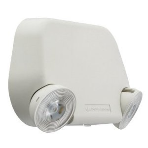 Lithonia Lighting EU2LEDM12 Emergency Light, LED, 2-Head, 1.8W, 3.6V, White