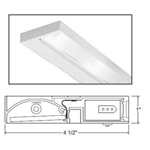 "Juno Lighting ULH322-WH Undercabinet Light, Halogen, 3-Light, 22"", 20W, 12V"