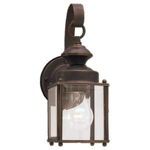 Sea Gull 8456-71 Lantern, Outdoor, 1 Light, 100W, Antique Bronze