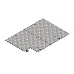 Oldcastle Precast 2002159 Cover, Steel Checker Plate 2-Piece H/20 Bolt Down, 24 x 36""
