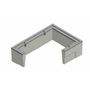 "Oldcastle Precast 1000310 Extension, Height: 12"", For Use With B2436 Box, Reinforced Concrete"