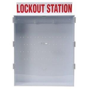 Brady 50996 Large Lockout Station, English Enclosed Style Station, Empty