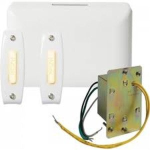 Nutone BK142LWH Wired Chime Kit, White, 2-Pushbuttons