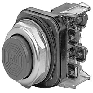 Allen-Bradley 800T-B6B Push Button, Extended Head, 30mm, Red, NEMA 4/13