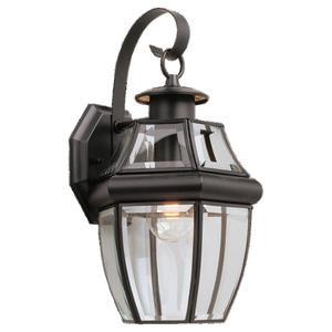 Sea Gull 8067-12 Lantern, Wall, 1 Light, 100 Watt, Medium Base, Black