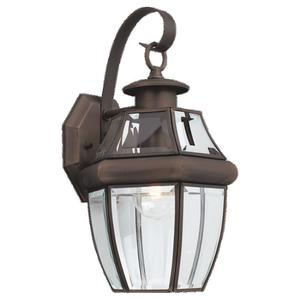 Sea Gull 8067-71 1-Light Outdoor Lantern, 100W, 120V, Antique Bronze Finish