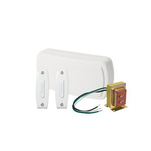 Nutone BK120NBWH Wired Chime Kit, White, 2-Pushbuttons