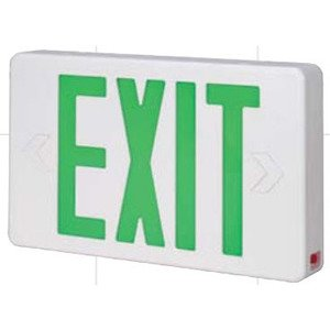 Bizline RX3GWE Exit Sign, LED, Green Letters