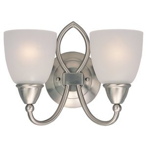 Sea Gull 40074-962 Wall Fixture, 2 Light, Brushed Nickel