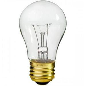Satco S3948 Incandescent Bulb, A15, 15W, 130V, Clear