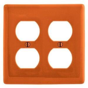 Hubbell-Wiring Kellems NP82OR WALLPLATE, 2-G DUPLEX