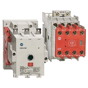 Allen-Bradley 100S-D180EZJ22BC Contactor, Safety, 180A, 24VDC, Coil, Bifurcated Contacts, 2NO/NC