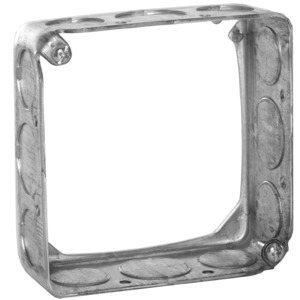 "Hubbell-Raco 203 4"" Square Extension Ring, 1-1/2"" Deep, Drawn, Metallic"