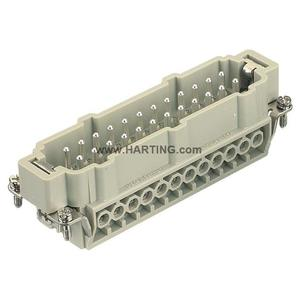 Harting 09330242601 Male Insert, Size 24B, Screw Terminal, 24 Contacts, 16A, 500V