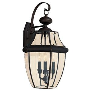 Sea Gull 8040-71 Lantern, Outdoor, 3 Light, 40W, Antique Bronze
