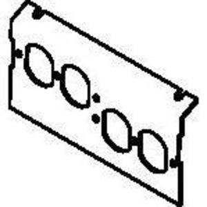 Wiremold C8004P-2DBP Ac8104 & Ac8840 For 2 Duplex Kos