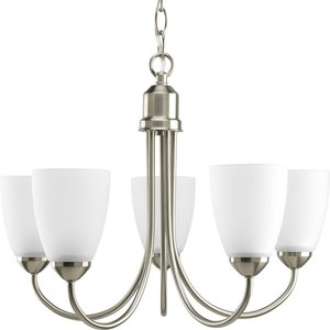 Progress Lighting P4441-09 5-Lt. Brushed Nickel Chandelier