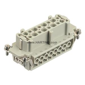 Harting 09330162701 Female Insert, Size 16B, Screw Terminal, 16 Contacts, 16A, 500V